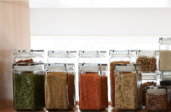 stackable glass jars