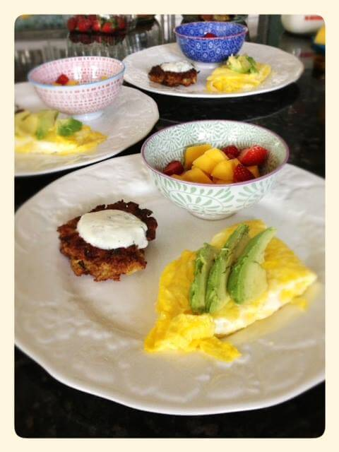 Carrot Fritters and Yogurt Sauce with Breakfast from 100 Days of #RealFood