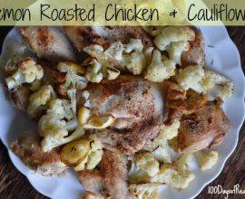 Lemon Roasted Chicken and Cauliflower