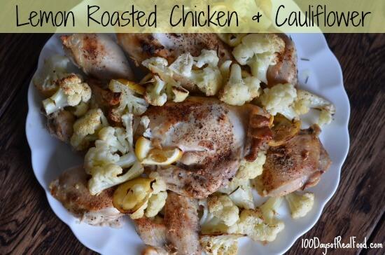 Roasted Chicken and Cauliflower