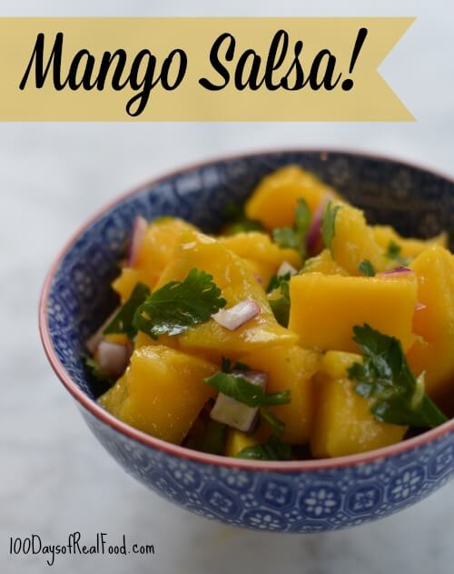 Mango Salsa + How to Cut a Mango from 100 Days of #RealFood