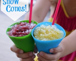 Real Food Snow Cones from 100 Days of #RealFood