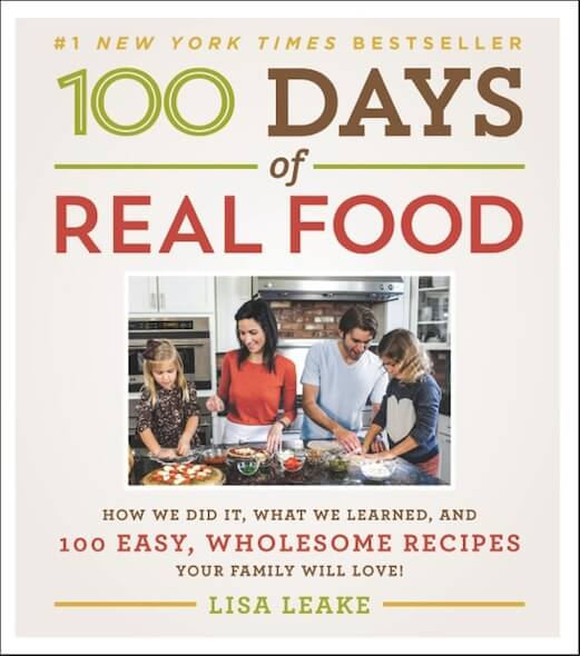 100 Days of Real Food cookbook cover #1 New York Times best seller