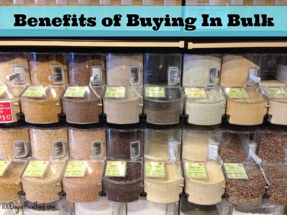 Benefits of Buying in Bulk on 100 Days of #RealFood