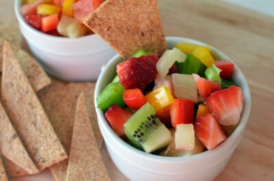 5 Favorite Summer Snacks from Super Healthy Kids (Fruit Salsa) at 100 Days of #RealFood