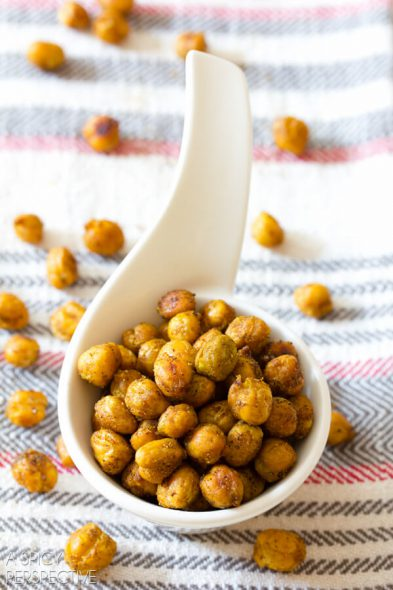 Indian Spiced Roasted Chickpeas (from a Spicy Perspective) at 100 Days of #RealFood