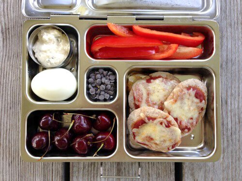 Pita Pizza #SchoolLunch on 100 Days of #RealFood