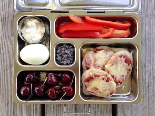 Pita Pizza #SchoolLunch on 100 Days of #RealFood