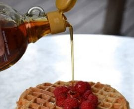 Raspberry Almond Lunchbox Waffles from 100 Days of #RealFood
