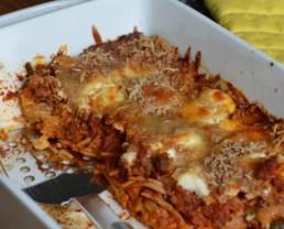 Spaghetti Casserole! (a makeover for your spaghetti)