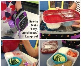 How To Make EasyLunchboxes Leakproof on 100 Days of #RealFood
