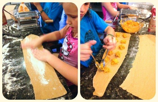 Making Sweet Potato Ravioli on 100 Days of #RealFood