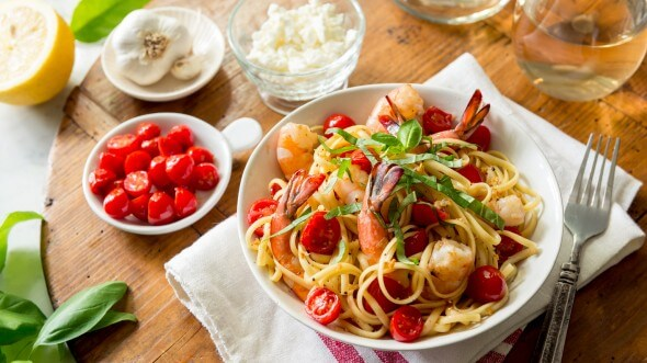 Shrimp Linguini from The Fresh 20 meal plan on 100 Days of #Realfood
