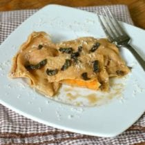 Sweet Potato Ravioli on 100 Days of #RealFood