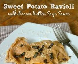 Sweet Potato Ravioli on 100 Days of #RealFood