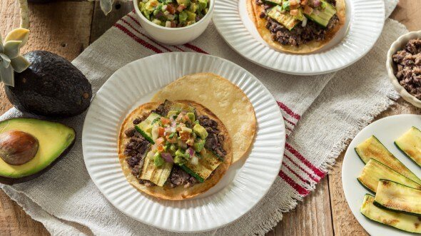 Zucchini Black Bean Tostada from The Fresh 20 meal plan on 100 Days of #Realfood