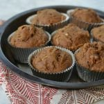 Whole-Wheat Apple Walnut Muffins on 100 Days of #RealFood