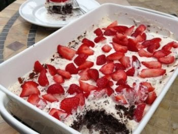 Homemade ice cream cake on 100 Days of #RealFood