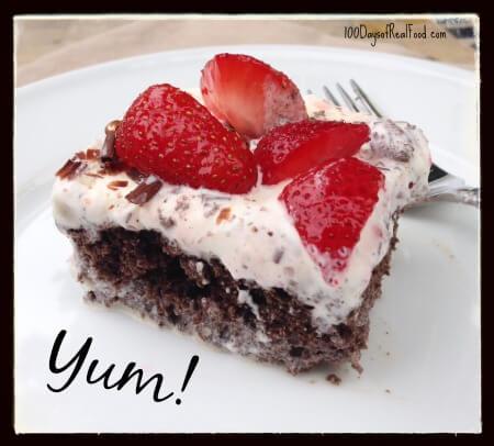 Homemade Ice Cream Cake on 100 Days of #RealFood
