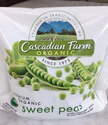 Cascadian Farm Peas on 100 Days of #RealFood