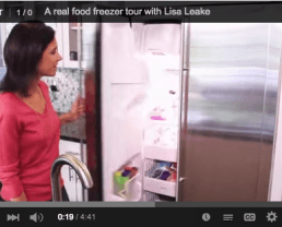 Video: A Tour of My Real Food Freezer