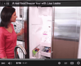 Freezer Tour on 100 Days of #RealFood