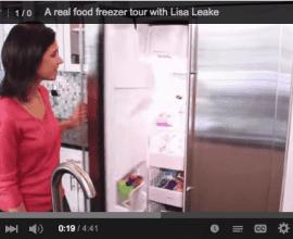 Freezer Tour on 100 Days of #RealFood