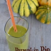 Pumpkin Pie Green Smoothie on 100 Days of #RealFood