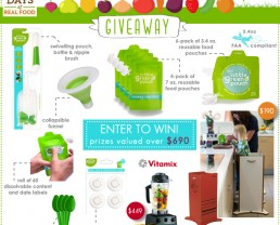 Little Green Pouch giveaway on 100 Days of #RealFood