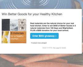 5 Materials for a Healthy Kitchen on 100 Days of #RealFood