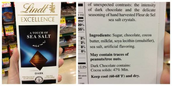 Lindt Chocolate: Misleading Product Roundup IV on 100 Days of #RealFood