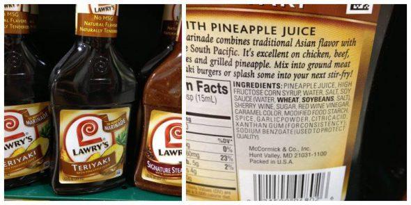Teriyaki Marinade: Misleading Product Roundup IV on 100 Days of #RealFood
