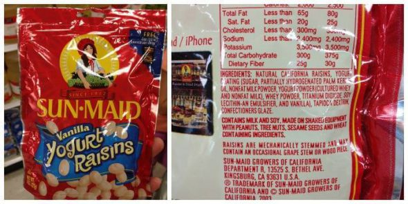Yogurt Raisins: Misleading Product Roundup IV on 100 Days of #RealFood