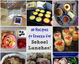 10 Recipes to Freeze for #SchoolLunches on 100 Days of #RealFood