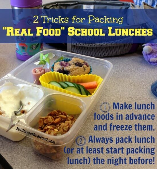 Top Recipes and Posts of 2014 (Recipes to Freeze for School Lunches) on 100 Days of #RealFood