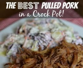 The Best Pulled Pork in a #CrockPot on 100 Days of #RealFood
