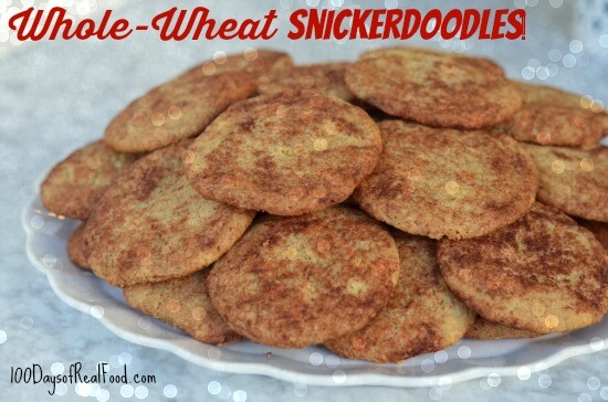 Recipe: Whole-Wheat Snickerdoodles (and How I Handle Holiday Parties) on 100 Days of #Real Food