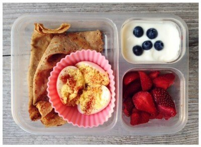 10 Recipes to Freeze for #SchoolLunches (Whole-Wheat Crepes) on 100 Days of #RealFood