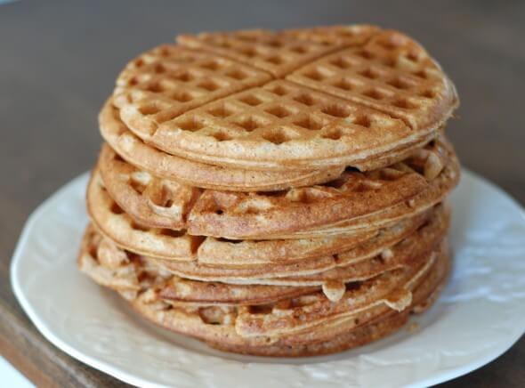 Top Recipes and Posts of 2014 (Whole-Wheat Waffles) on 100 Days of #RealFood