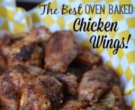 The Best Oven Baked Chicken Wings on 100 Days of #RealFood