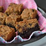 Peanut Butter Brownie Bars on 100 Days of #RealFood