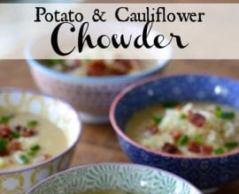 Potato and Cauliflower Chowder on 100 Days of #RealFood