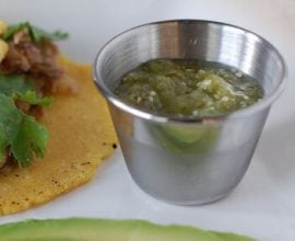 Tomatillo salsa recipe on 100 Days of #RealFood