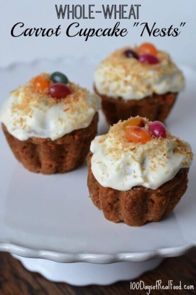 Easter Cupcakes on 100 Days of #RealFood