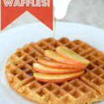 Fluffy Applesauce Waffles on 100 Days of #RealFood