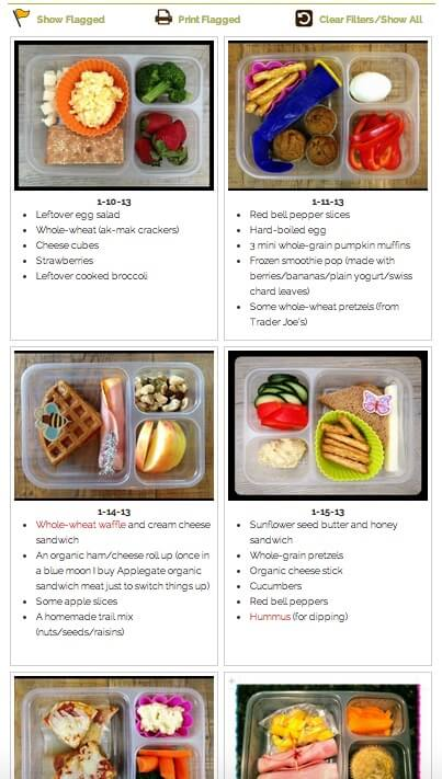 School Lunch Idea Gallery on 100 Days of #RealFood