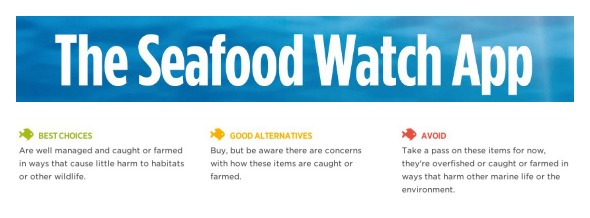 Seafood Watch App on 100 Days of #RealFood