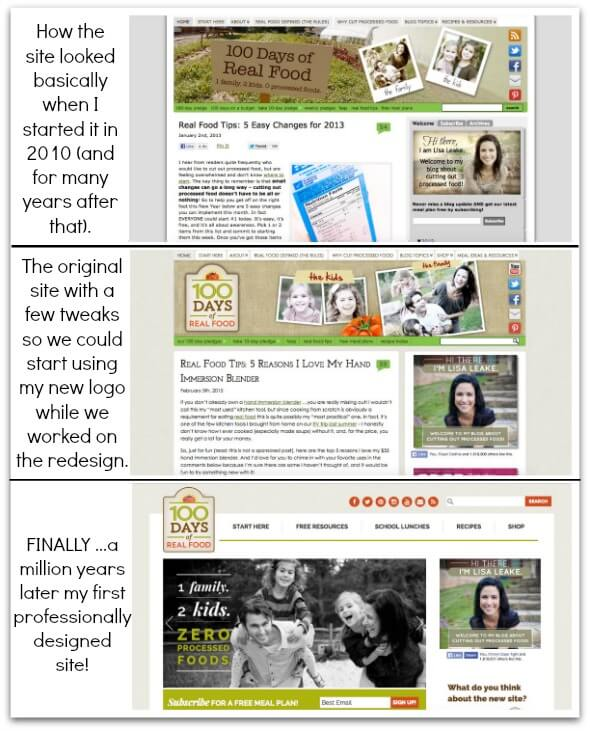 Site Redesign on 100 Days of #RealFood