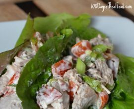 BLT Chicken Lettuce Cups on 100 Days of #RealFood