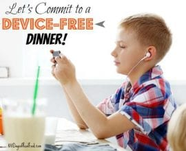 Let's commit to a #devicefreedinner on 100 Days of #RealFood